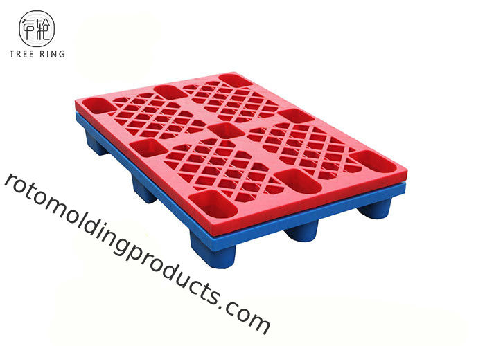 European HDPE Plastic Pallets Grid , 800 X 1200mm  Plastic Pallet Rack 1000kg Load