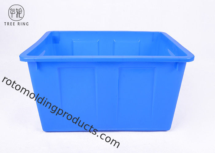 Big Storage Colorful Plastic Bin Boxes W50 Nestable HDPE 487 * 343 * 258 Mm
