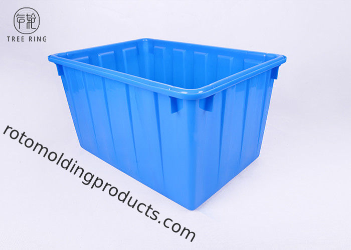 W120l Printed Stackable Strong Plastic Storage Containers  HDPE Injection Molded