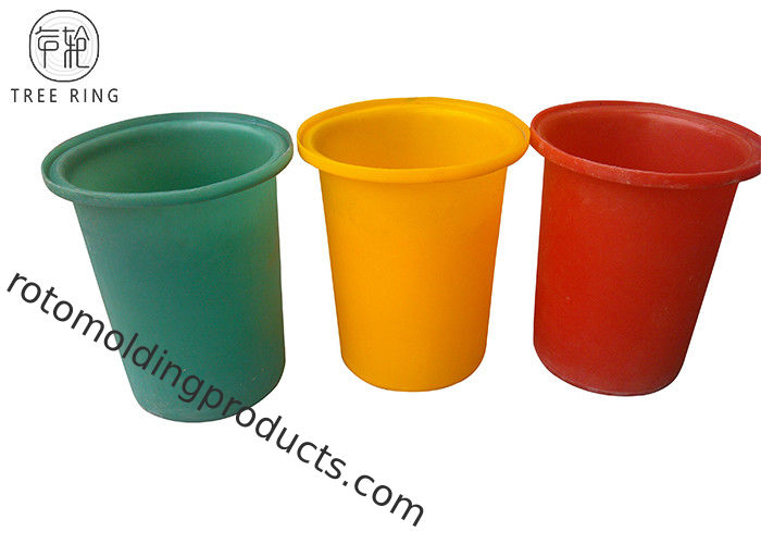 Round Recycling Hdpe Plastic Bucket  Rotomould Durable Refuse M50L Customized