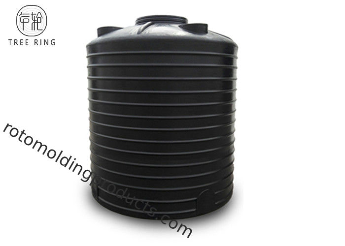 Cylindrical White / Black Plastic Water Tank Chemical PAM PAC Storage PT 5000L