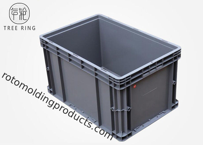 Euro Stackable Heavy Duty Plastic Storage Containers 600 * 400 * 340mm 50 Liter