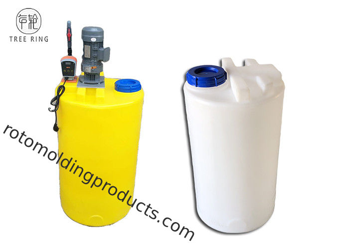 Industrial 100L Chemical Dosing Tank With 0.37KW Agitator , Level Indicators
